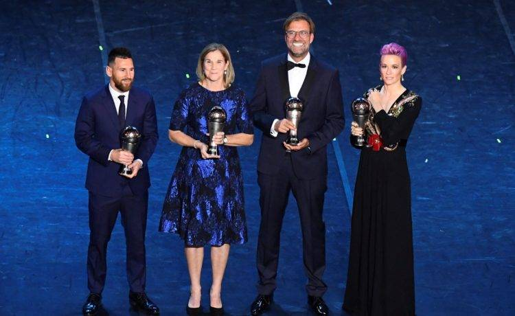 Who won the Best Fifa Football Awards 2019? Lionel Messi and Megan Rapinoe - Who won the Best Fifa Football Awards 2019 Lionel Messi