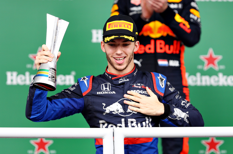 Pierre Gasly takes his first F1 win at the upside-down Italian Grand Prix