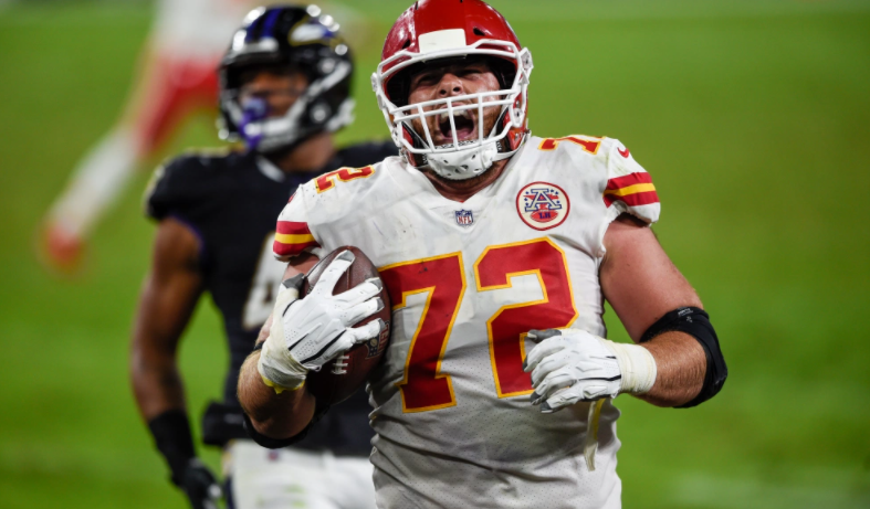 Eric Fisher had the best reaction to his touchdown against Ravens