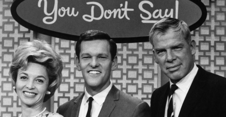 Tom Kennedy (in the middle), host of the classic TV game show