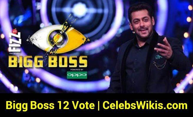 Bigg Boss 12 Vote (Online Voting Poll), Voting Results, Eviction Details - Bigg Boss 12 Vote