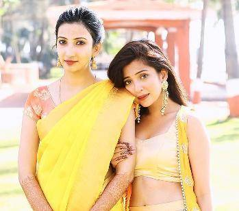 Barkha with her sister