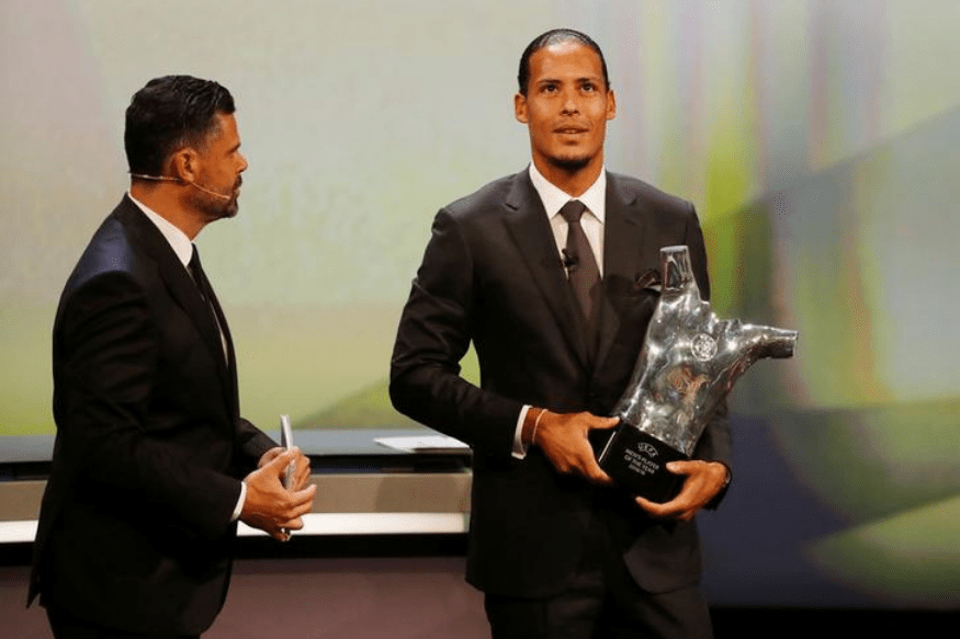 Virgil van Dijk wins UEFA Men's Player of the Year award - Virgil van Dijk wins UEFA Men039s Player of the Year