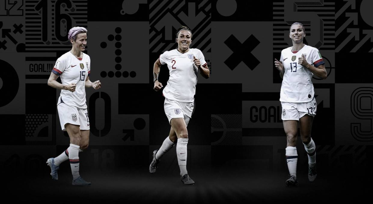 "FIFA Award ""data-caption ="" Top 3 Contender for the Best FIFA Player: Lucy Bronze, Alex Morgan and Megan Rapinoe. ""Data-source ="" @ fifa.com"