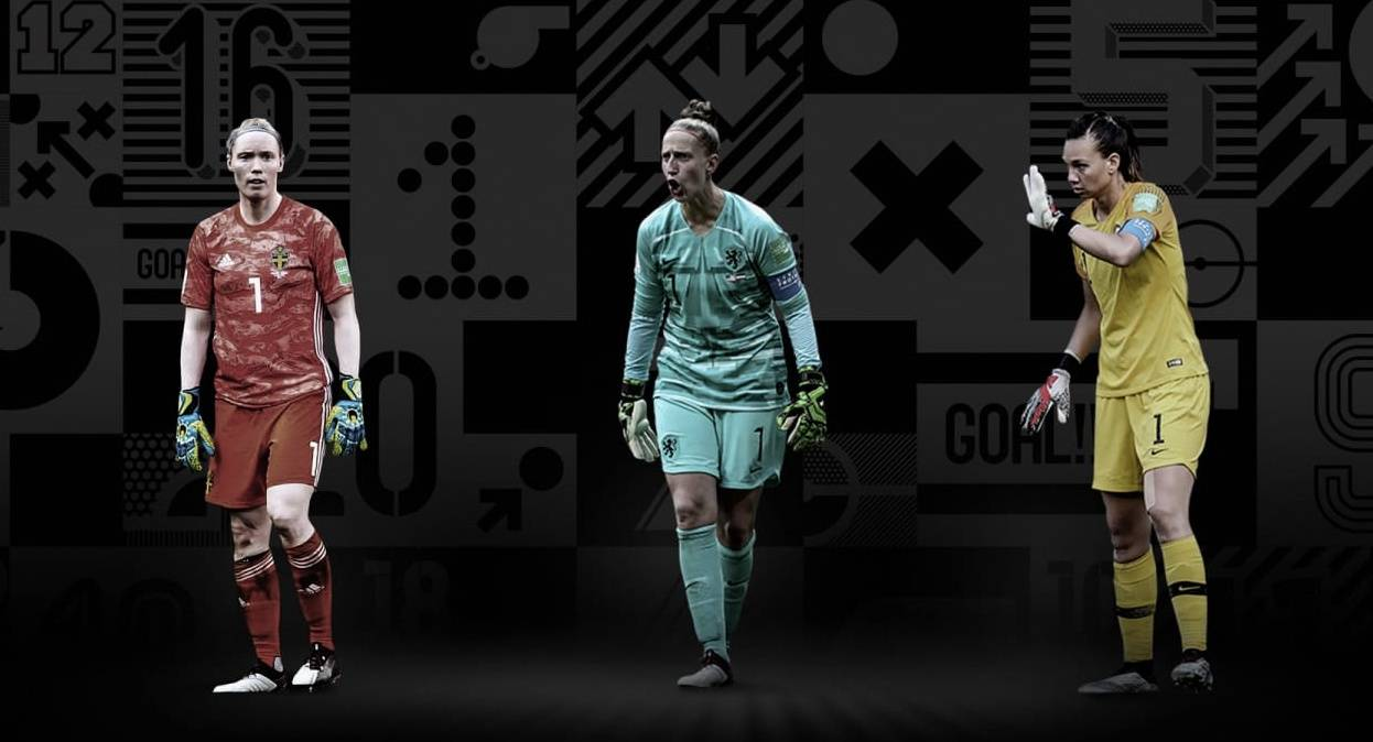 "Goalkeeper of the FIFA Award ""data-caption ="" The Best FIFA Women's Goalkeeper Top 3: Christaine Endler, Hedvig Lindahl and Sari van Veenendaal. ""Data-source ="" @ fifa.com"