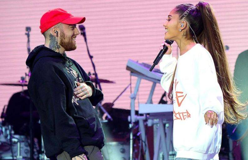 "Ariana Grande Mac Miller ""data-caption ="" Ariana Grande and Mac Miller. ""Data-source ="" @ abcnews.go.com"