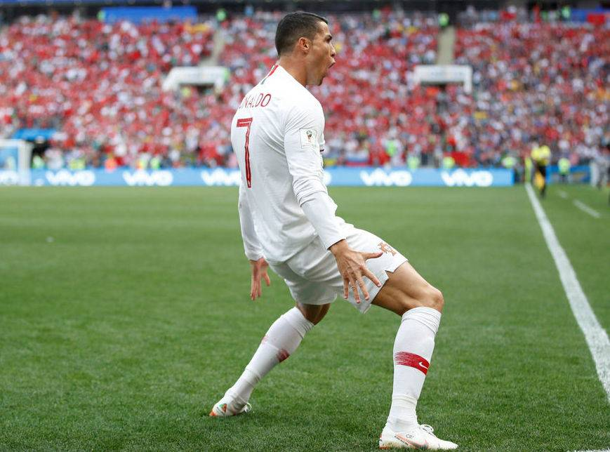 "Celebration of Cristiano Ronaldo ""data-caption ="" Goal celebration ""Siii"" of the registered trademark of Cristiano Ronaldo. ""Data-source ="" @ express.co.uk"