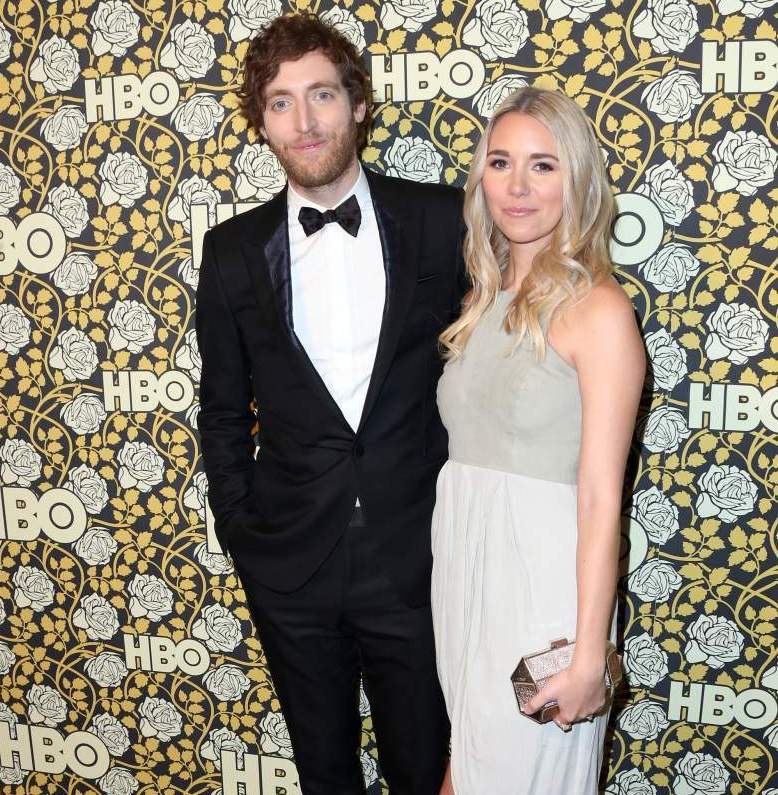 "Mollie Gates Designer ""data-caption ="" Thomas Middleditch and his wife Molly Gates. ""Data-source ="" @ heavy.com"