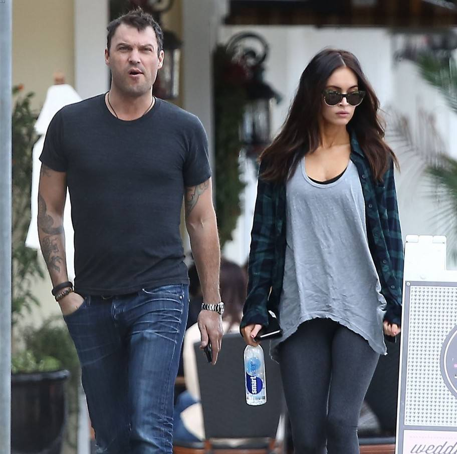 "Brian Austin Green Wife ""data-caption ="" Brian Austin Green and his wife Megan Fox. ""Data-source ="" @ justjared.com"