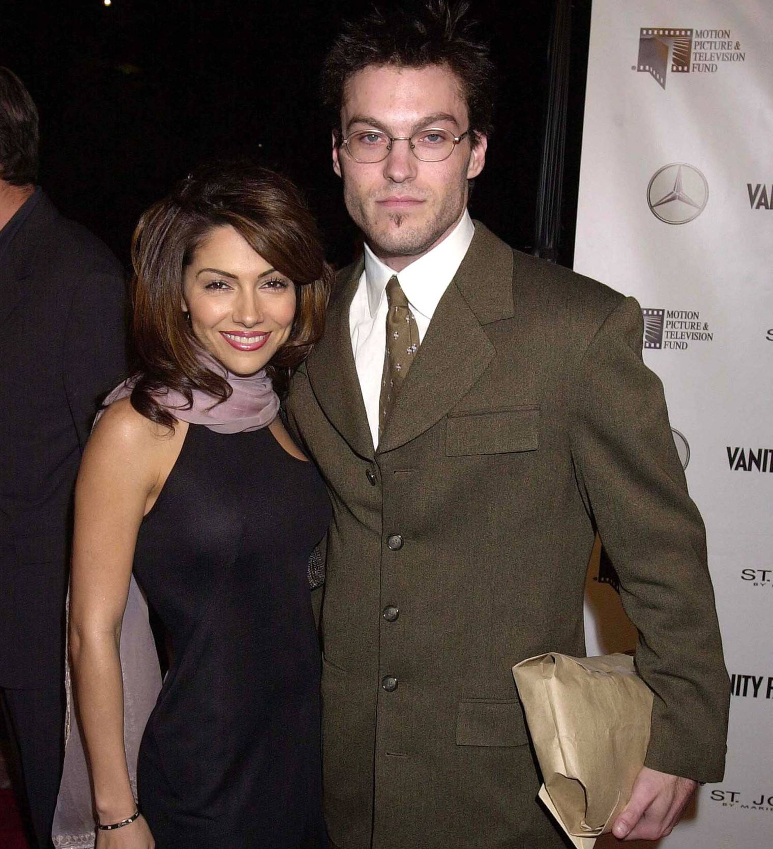 "Brian Austin Green Ex ""data-caption ="" Brian Austin Green and his ex-fiance Vanessa Marcil. ""Data-source ="" @ huffpost.com"