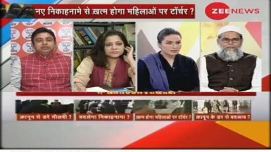 Amber Zaidi participates in Zee News debate