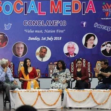 Amber Zaidi at the social media conclave