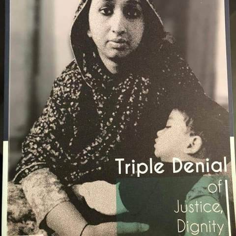The book of Amber Zaidi Triple denial of justice, dignity and equality