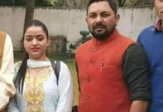 Reena Thakur with her boyfriend, Upen Pandit