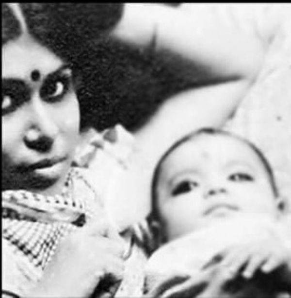 Photo of Koena's childhood with his mother