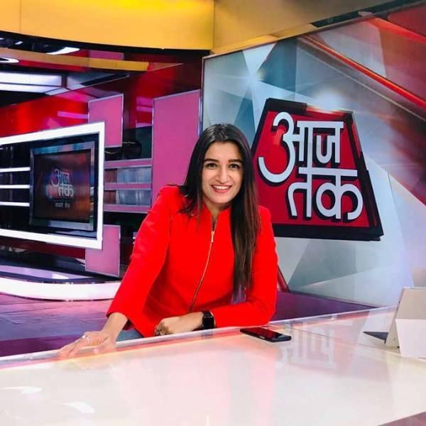 Shefali Bagga at Aaj Tak