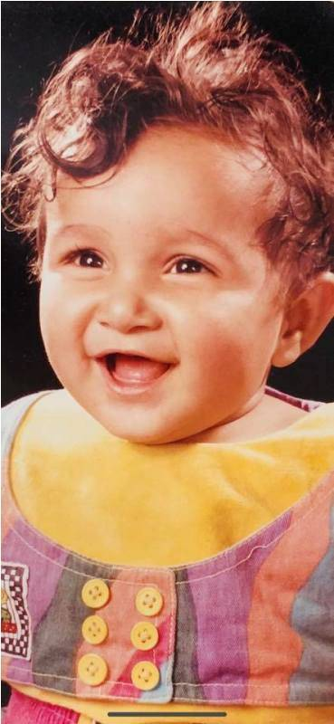 Childhood image of Shefali Bagga