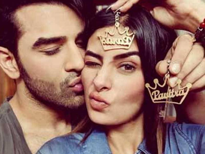Paras Chhabra with his ex-girlfriend, Pavitra Punia