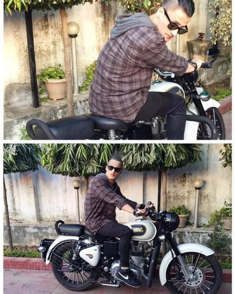 Asim Riaz with his bike