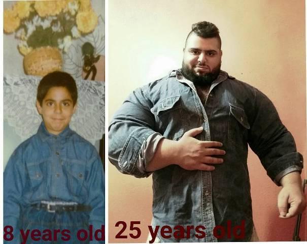 Childhood and present photos of Sajad Gharibi