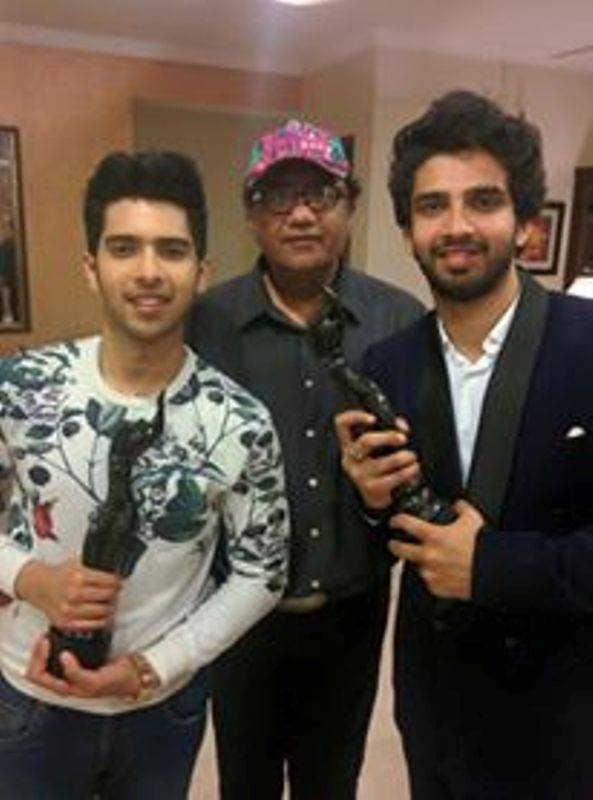 Abu Malik with Armaan and Amaal Malik