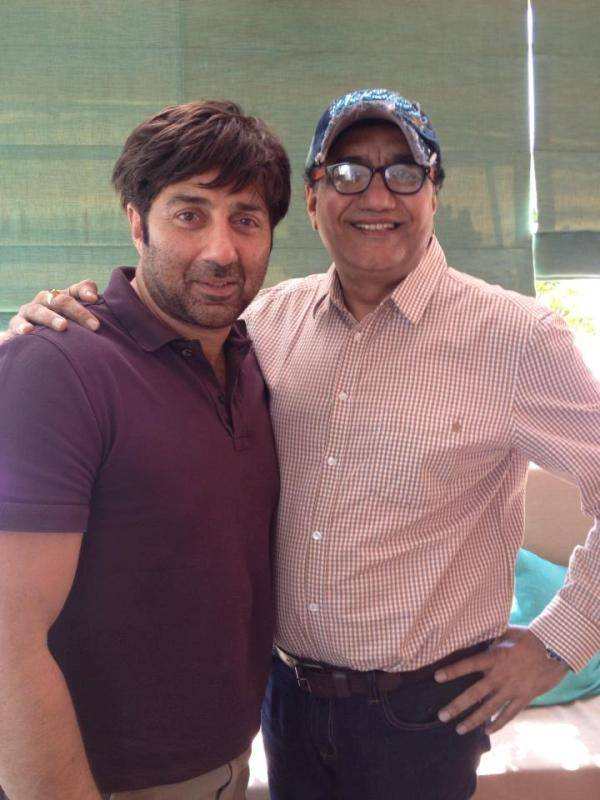 Abu Malik with Sunny Deol