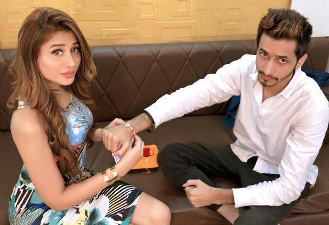 Mahira Sharma with her brother
