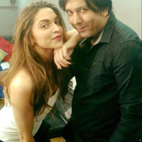 Siddharth Dey with Deepika Padukone