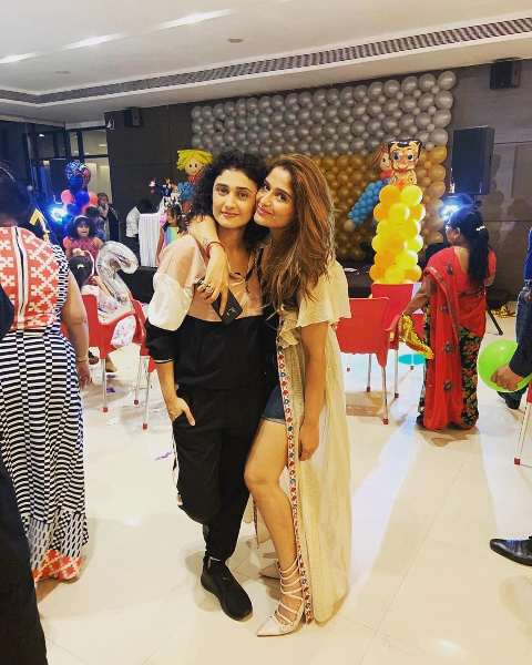 Arti Singh with his cousin Ragini Khanna