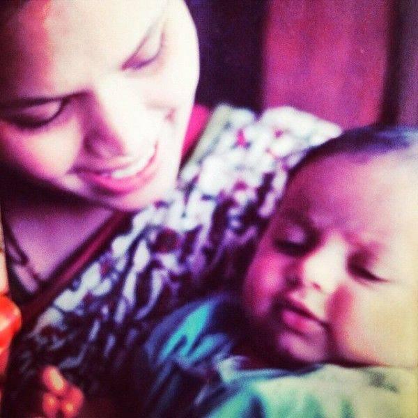 Akbar Rasheed with his mother