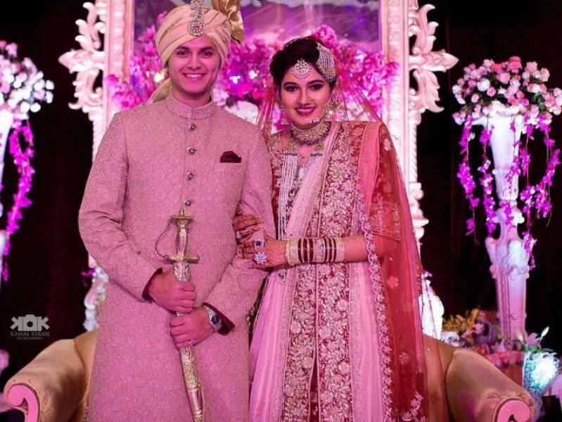 Akbar Rasheed with his ex-wife
