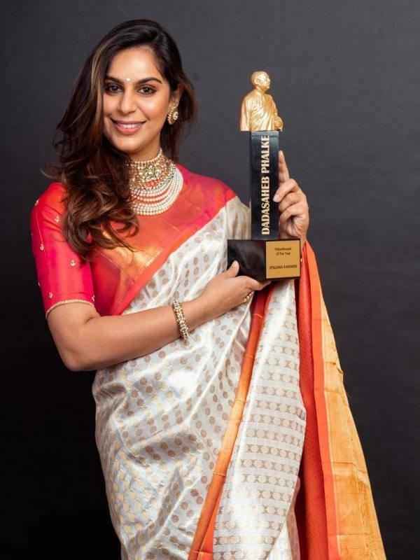 Upasana Kamineni with its price Dadasaheb Phalke - Philanthropist of the year