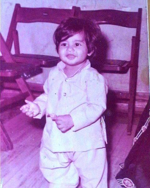 Childhood photo of Hussain Kuwajerwala