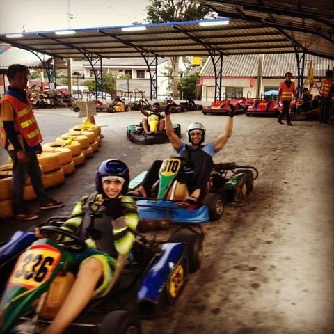 Hussain Kuwajerwala karting in Phuket