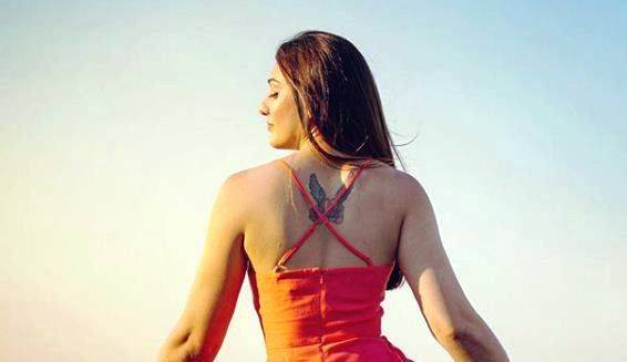 The tattoo of Shefali Jariwala