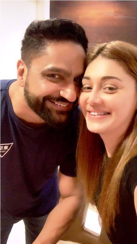 Shefali Jariwala with her husband