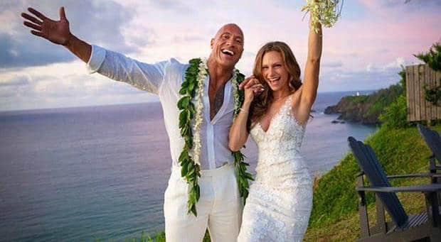 dwayne johnson married lauren hashian
