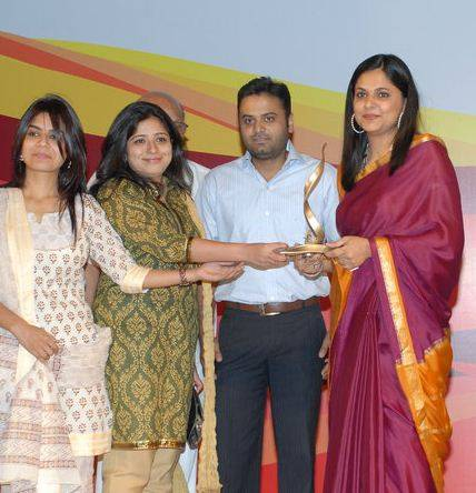 Richa Anirudh being praised for a prize