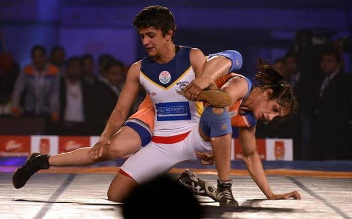 Ritu Phogat at the national wrestling championship