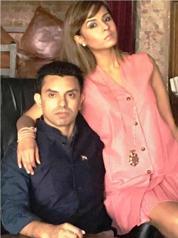 Monicka with her husband Tehseen