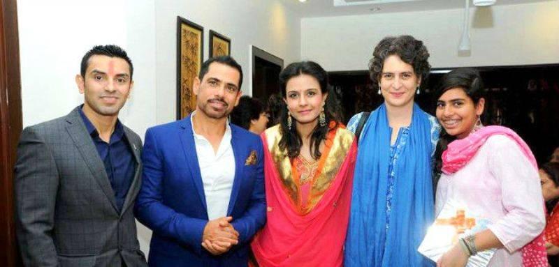 Monicka Vadera with Robert Vadra, Tehseen and Priyanka Gandhi
