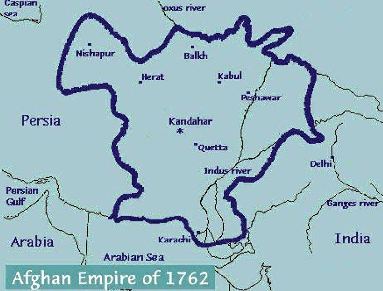 Afghan Empire from 1762