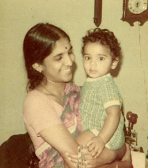 Supriya Yarlagadda's mother with her brother