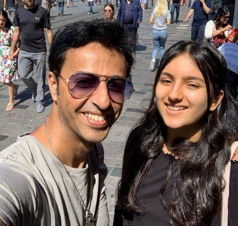 Salim Merchant with her daughter