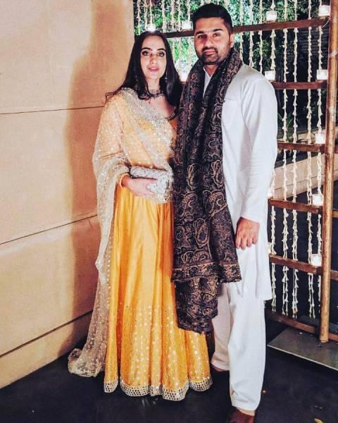 Kusha Kapila with her husband