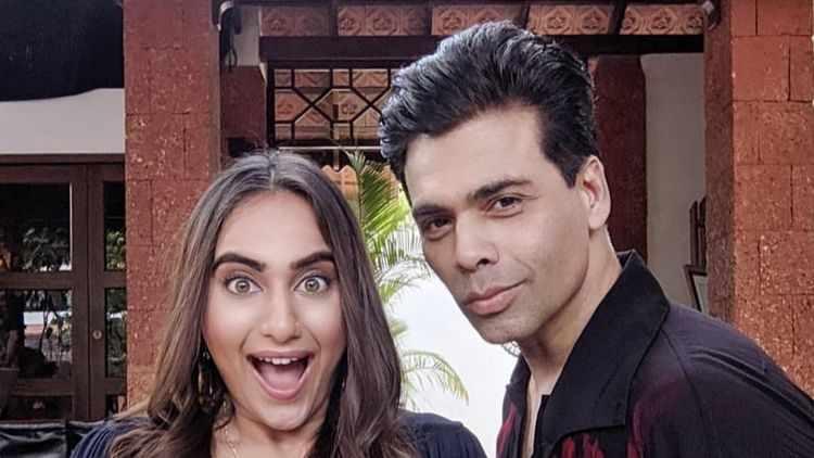Kusha Kapila with Karan Johar