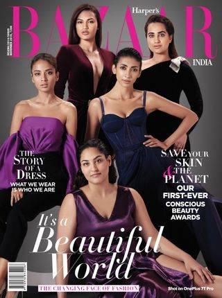 Kusha Kapila on the cover of Harper ' s Bazaar magazine