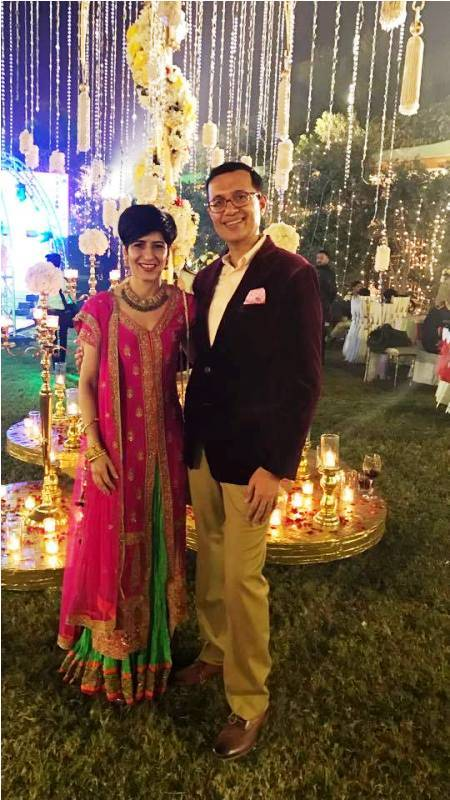 Neeti Palta with her husband