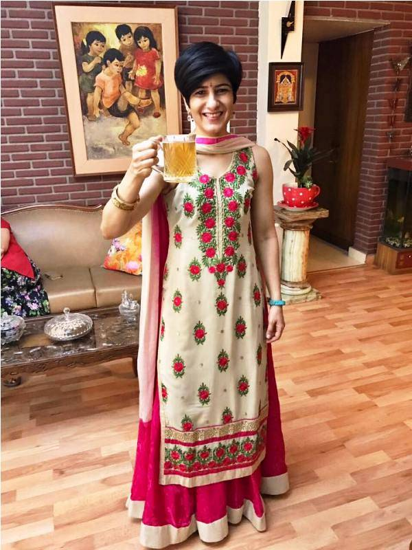 Neeti Patil at the Diwali party