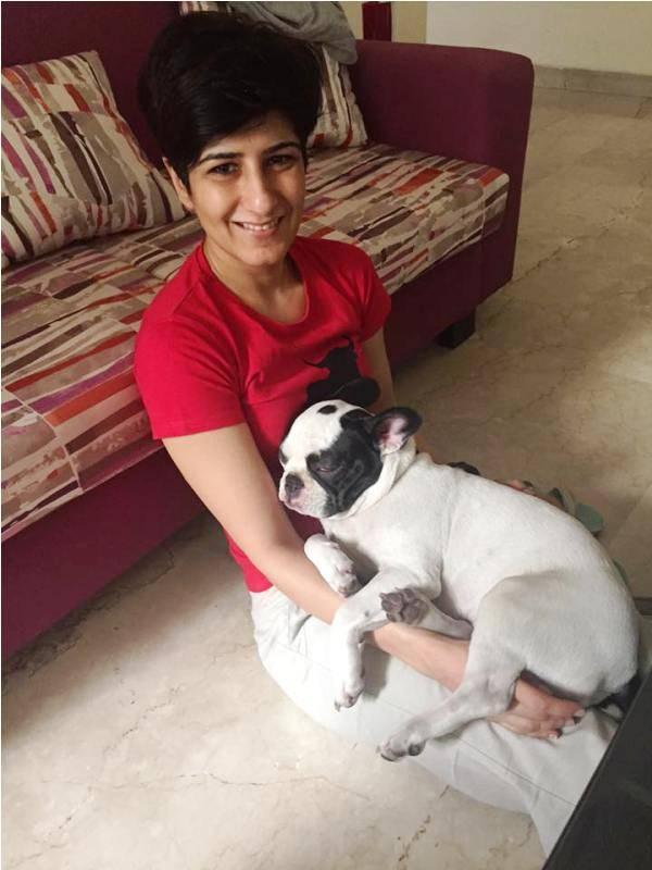 Neeti Palta with his dog